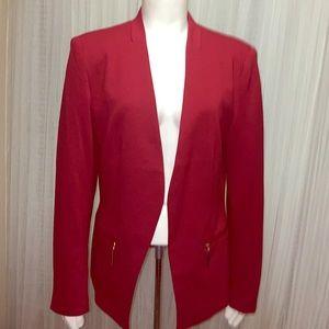 Carmen Marc Valvo Red Open Blazer Size 14